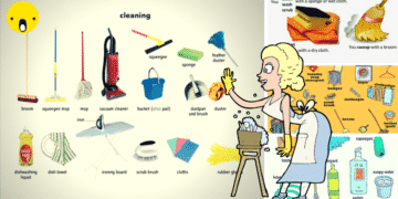 English Vocabulary: House Cleaning 16