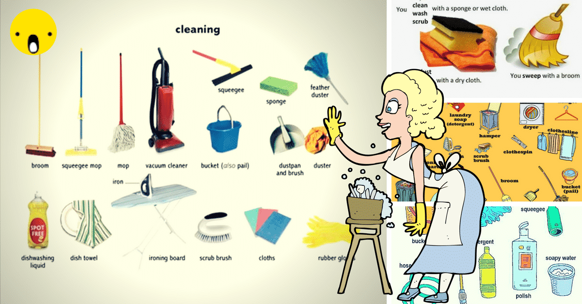 English Vocabulary: House Cleaning 8