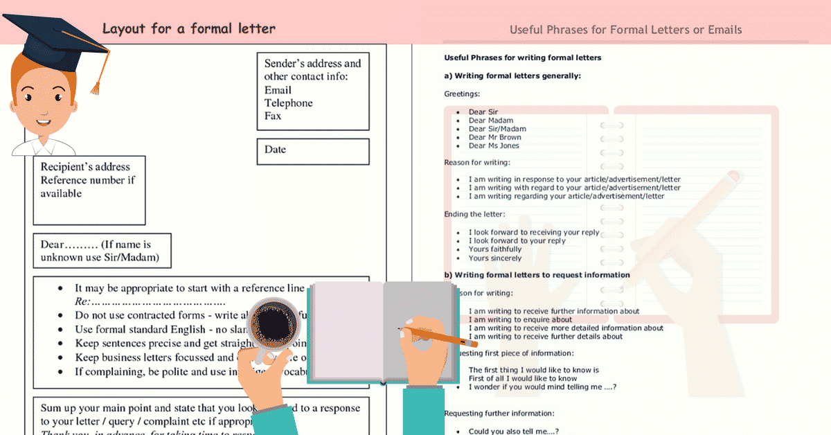 How to Write a Formal Letter | Useful Phrases with ESL Image