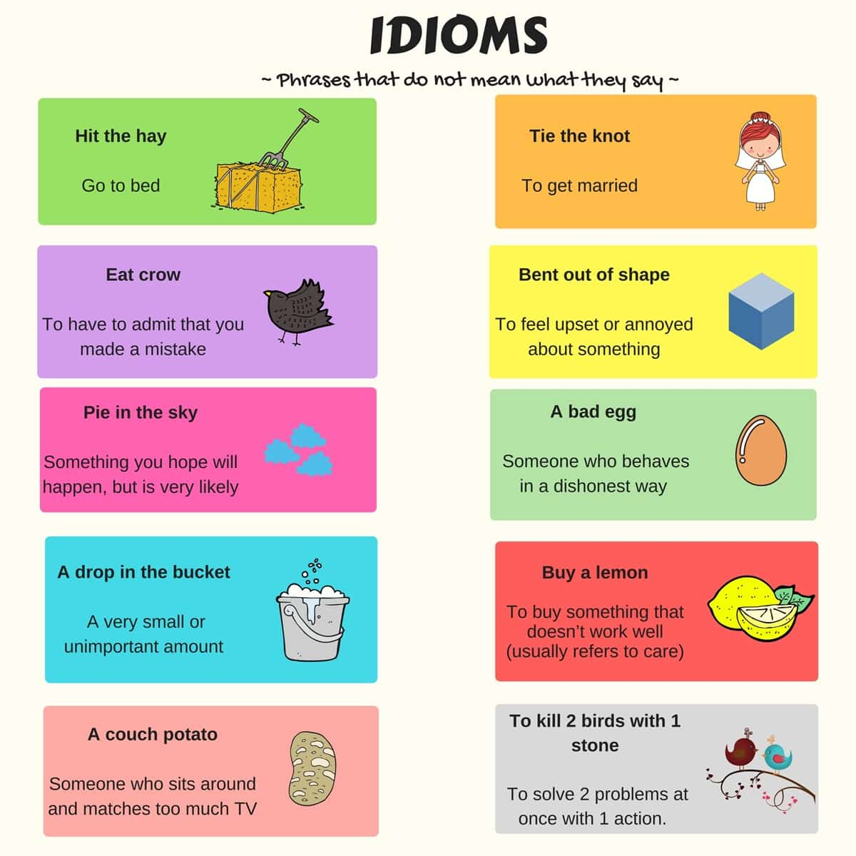30+ English Idioms Commonly Used In Daily Conversations