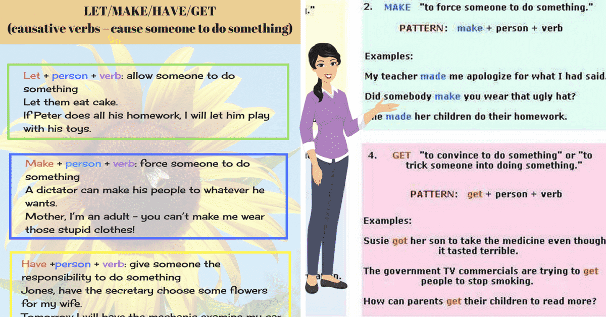 Causative Verbs in English: Let, Make, Have & Get 7