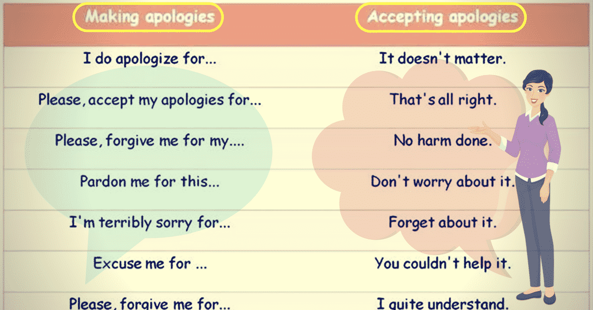 How to Express and Accept an Apology in English 8