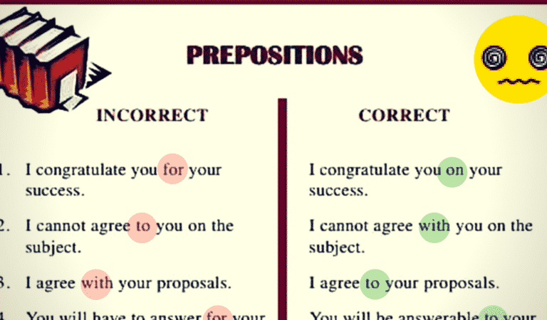 Common Errors in the Use of English Prepositions