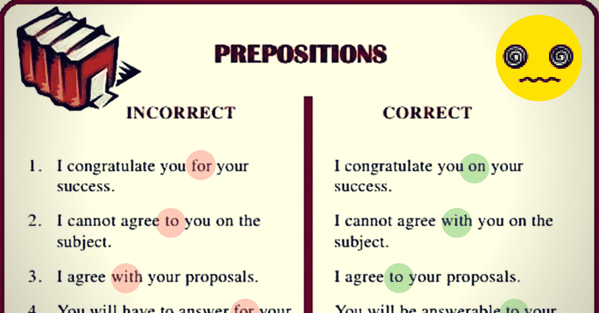 Common Errors in the Use of English Prepositions 4