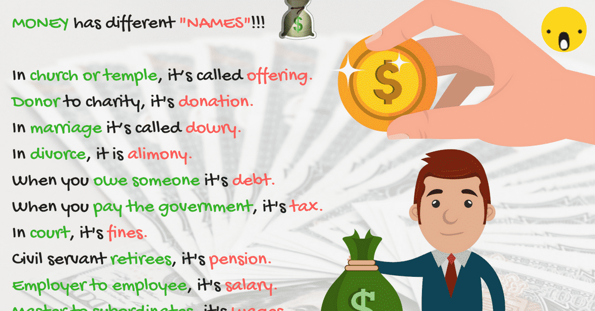 Money Synonym: 30+ Common Forms of Money in English 4
