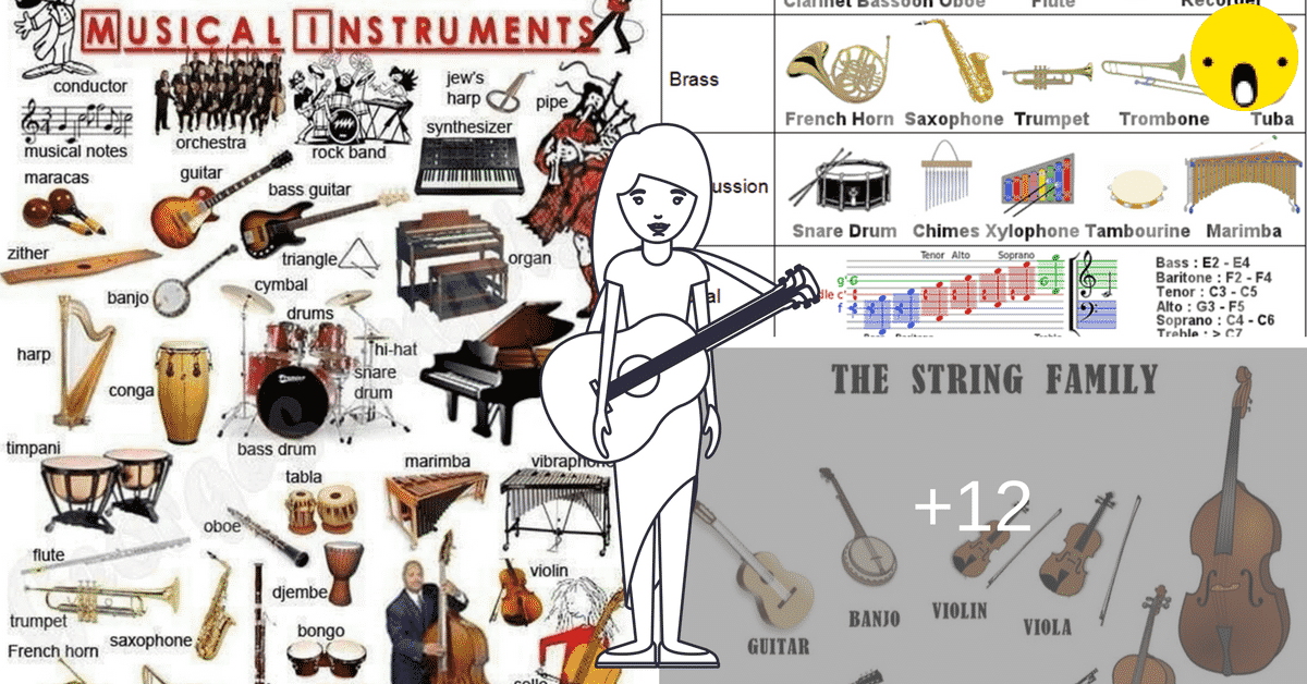 Learn English Vocabulary through Pictures: Musical Instruments 12