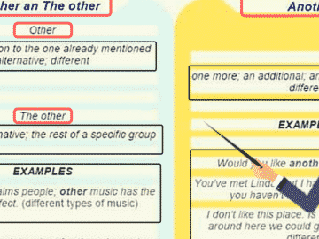 English Grammar: ANOTHER vs OTHER vs OTHERS vs THE OTHER 8