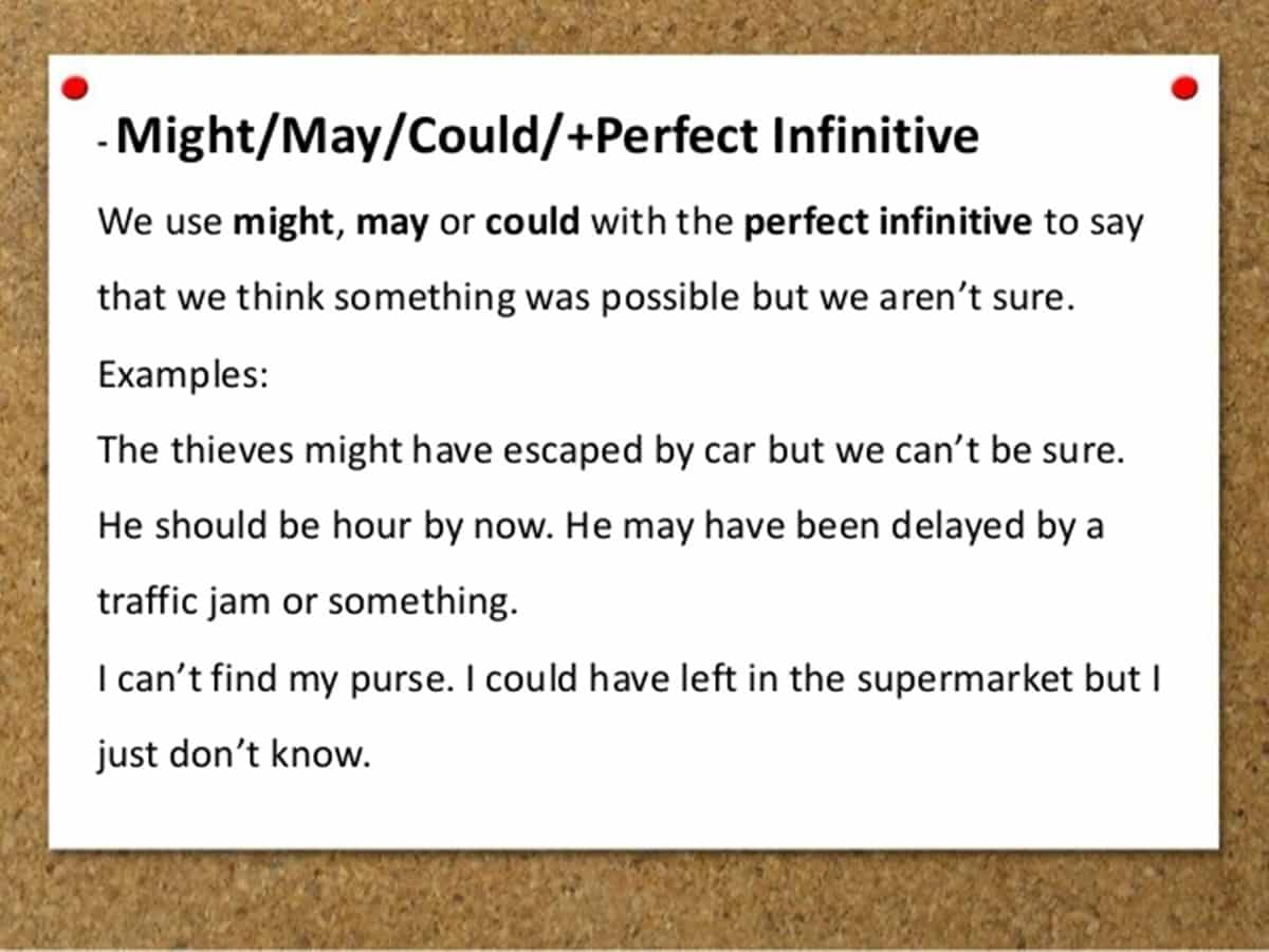 Perfect Infinitives with Modal Verbs