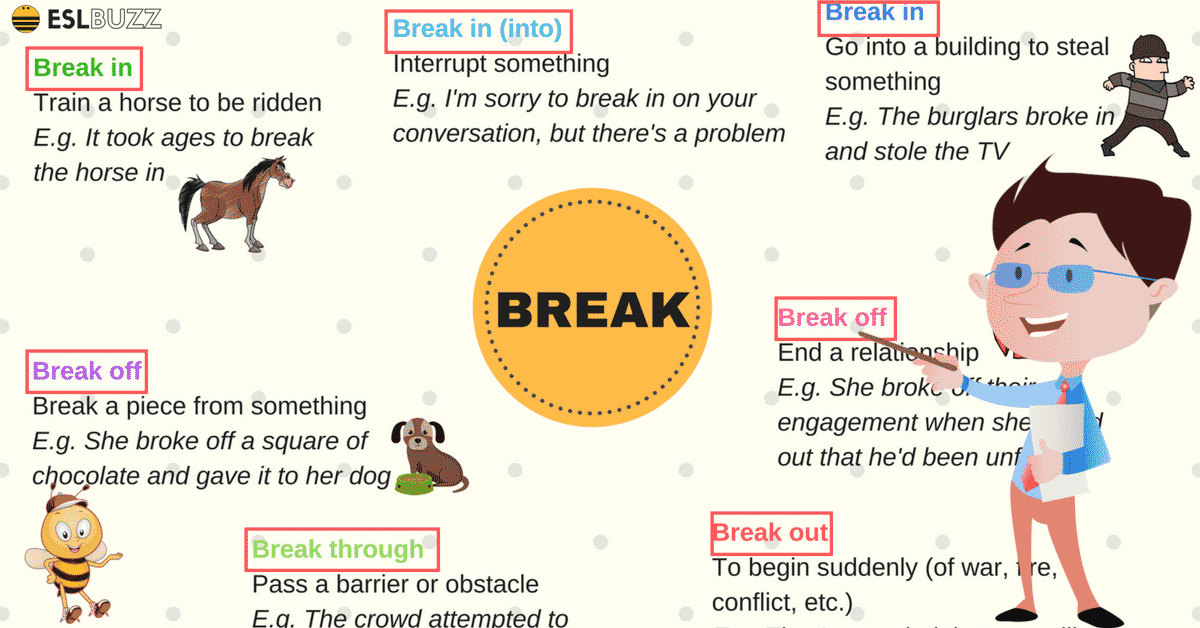 Phrasal Verbs with BREAK in English (with Meaning and Examples) 6
