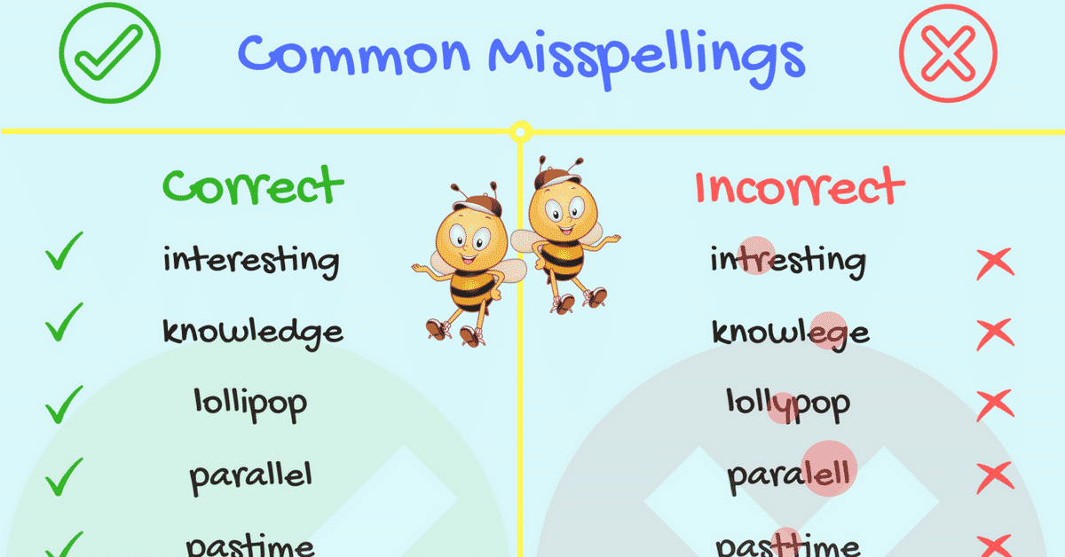 70+ Common Spelling Mistakes in English 6