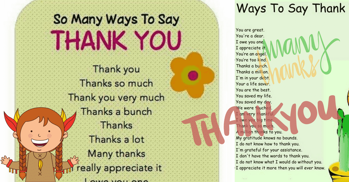 30+ Delightful Ways to Say THANK YOU in English 3