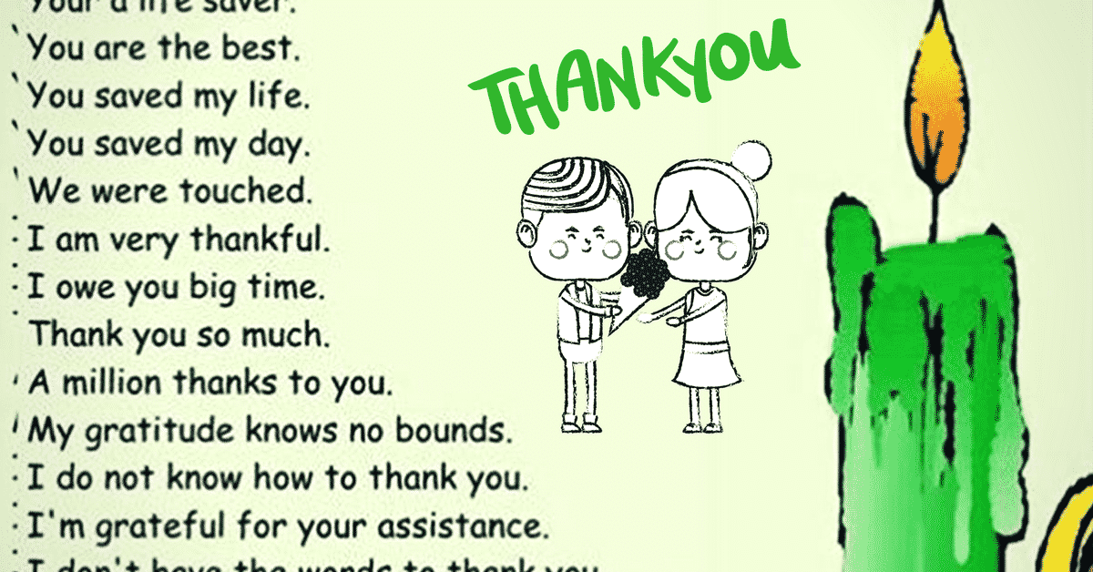 Other Ways to Say THANK YOU in Different Situations 5