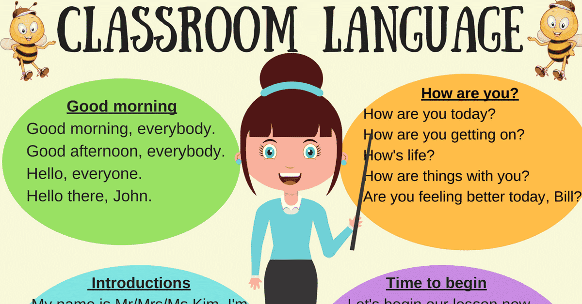 Classroom Language For English Teachers 6