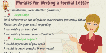 Useful Words and Phrases for Writing Formal Letters in English 5