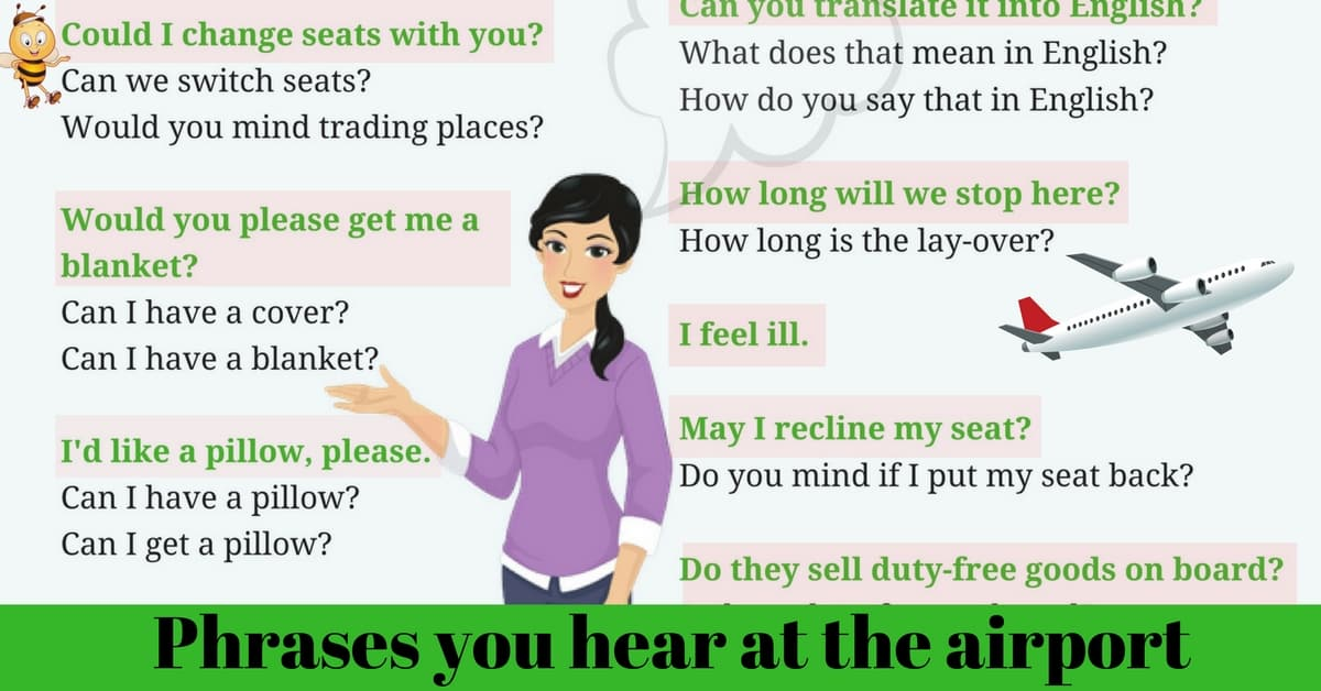 Common Phrases You Hear at The Airport 3
