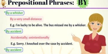 Common Prepositional Phrases with BY in English 7
