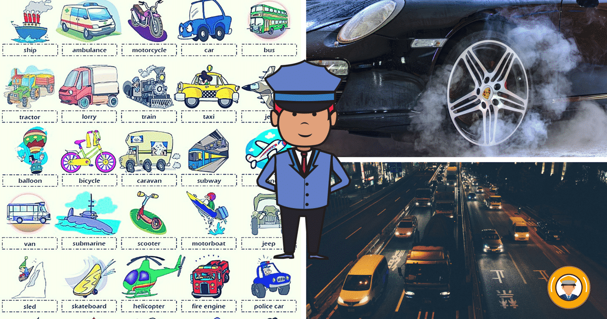 Street Vehicles and Transportation Vocabulary in English 46