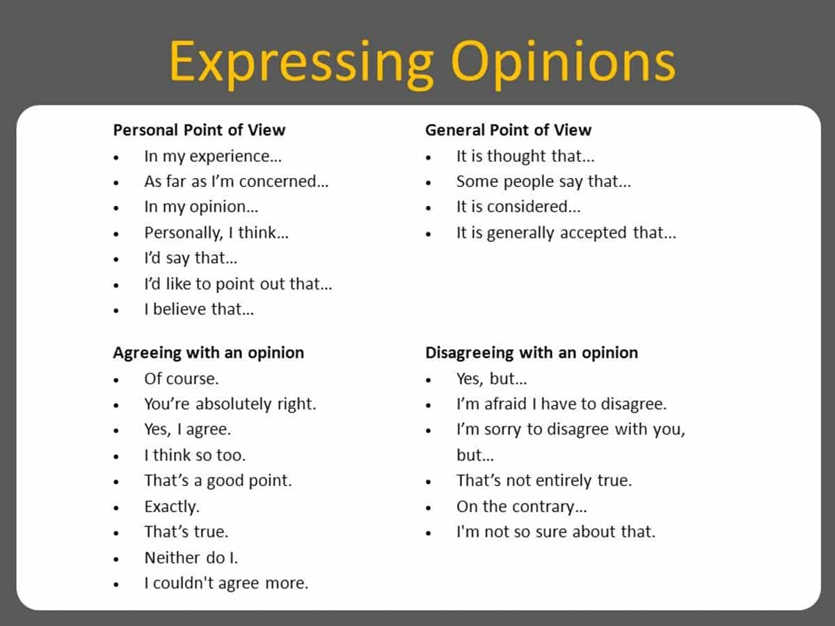 How to Effectively Express Your Opinion in an Argument 3
