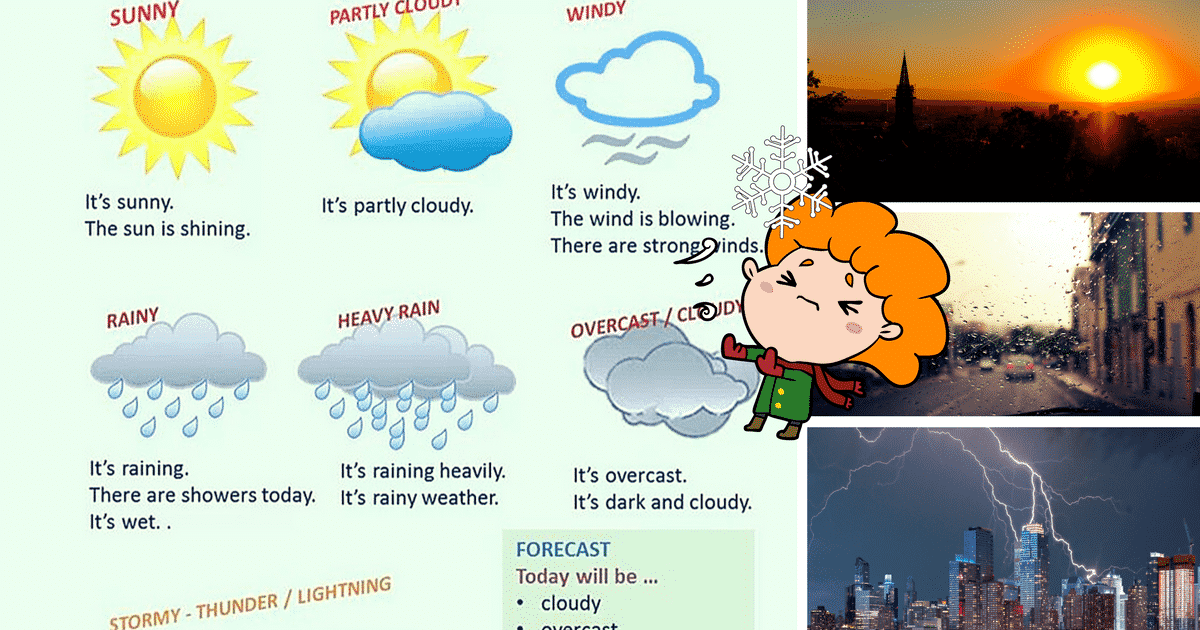 Useful Weather Vocabulary: What's the Weather Like in your Country? 14