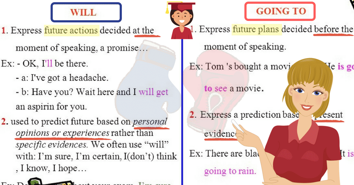 English Grammar: Will or Be Going to 6