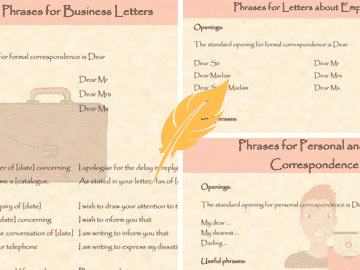 Useful Phrases and Vocabulary for Writing Letters in English 15
