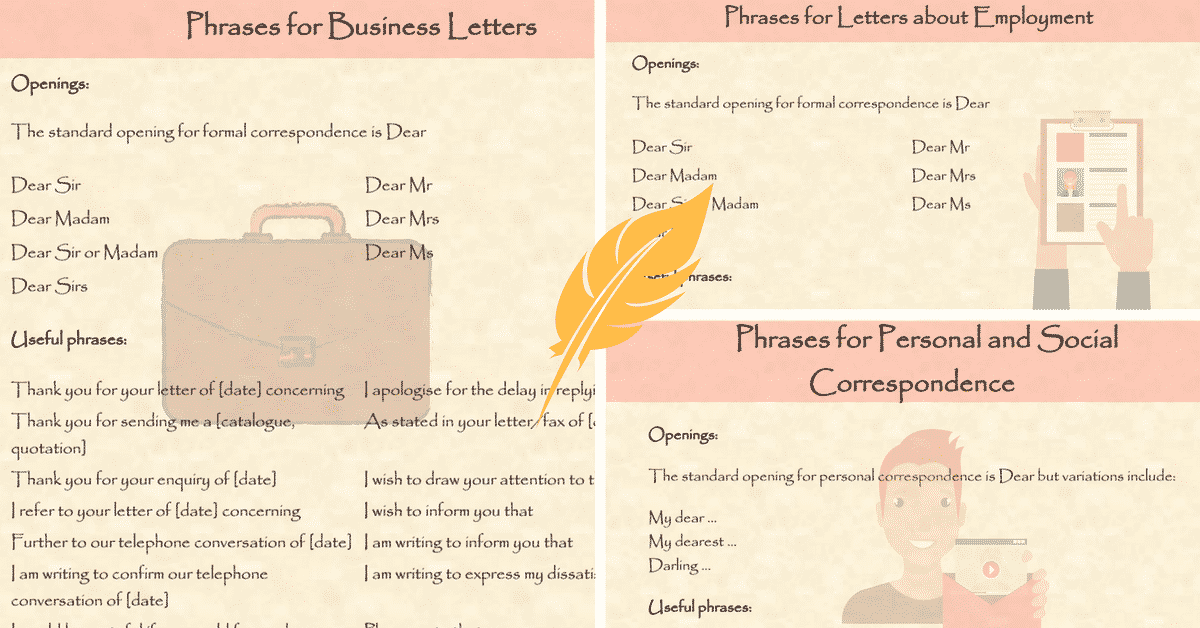 Useful Phrases and Vocabulary for Writing Letters in English 9
