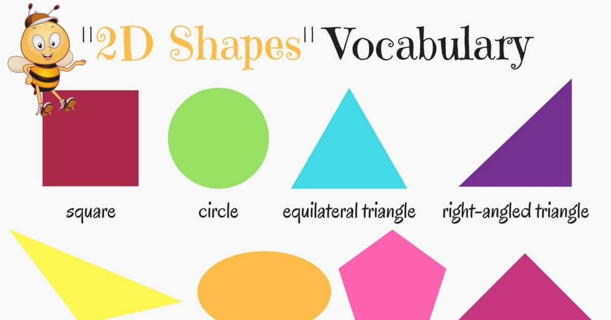 2D Shapes Vocabulary in English 5