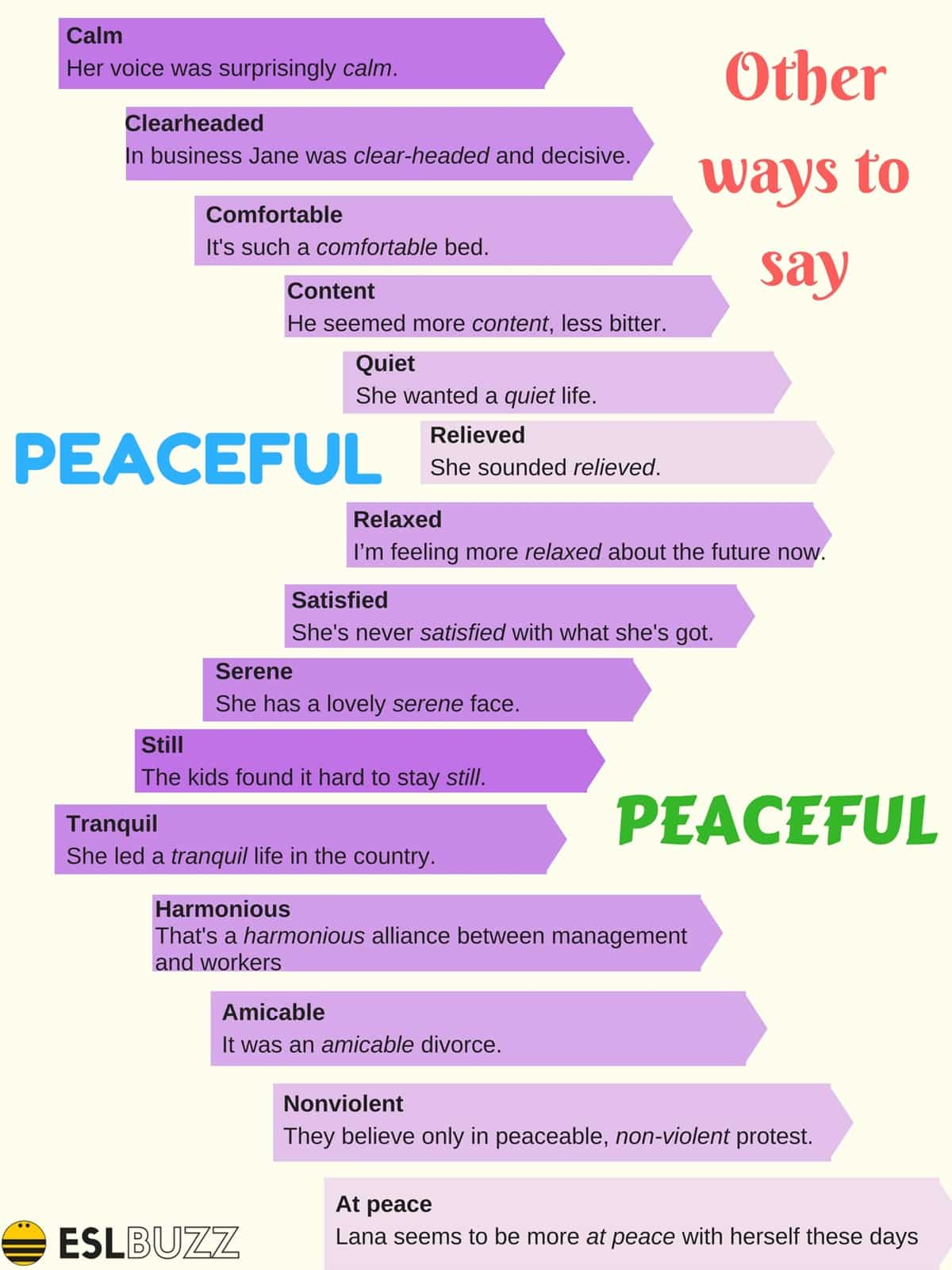 Other Ways to Say PEACEFUL