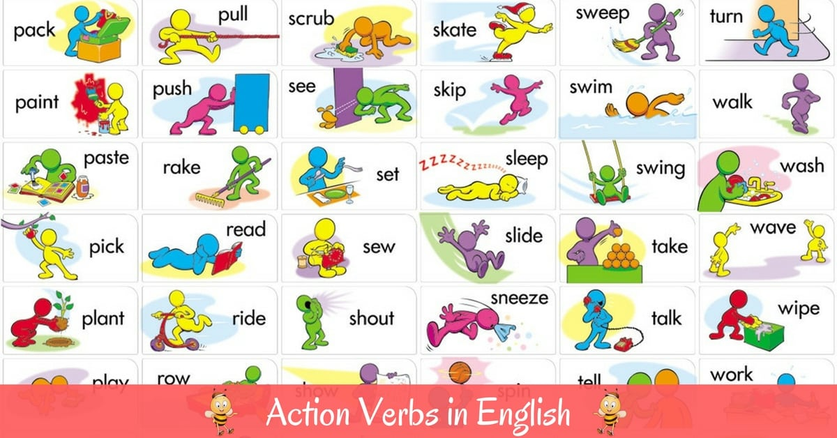 Vocabulary: Action Verbs in English 4