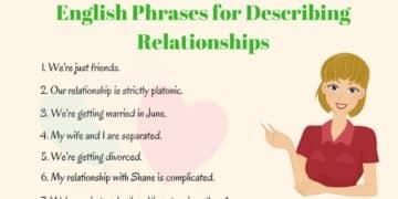 25+ English Phrases for Describing Relationships 1