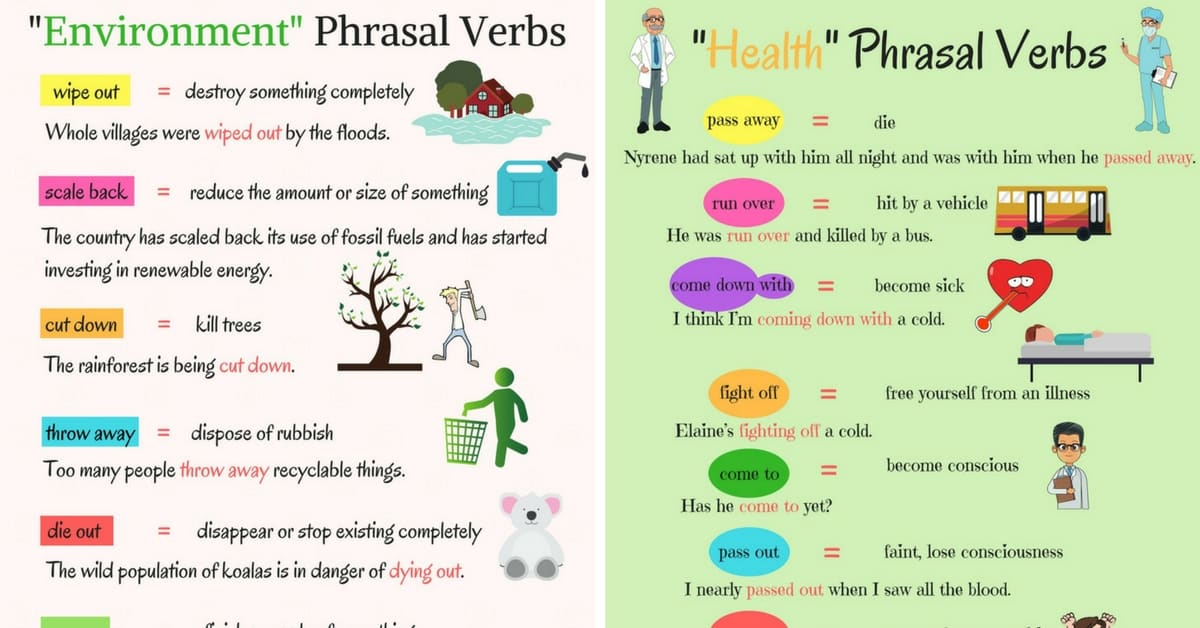 Phrasal Verbs: Environment and Health 4