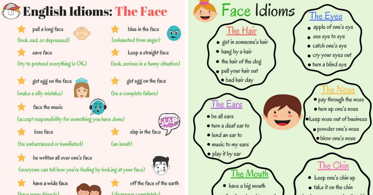 The Face Idioms in English 12