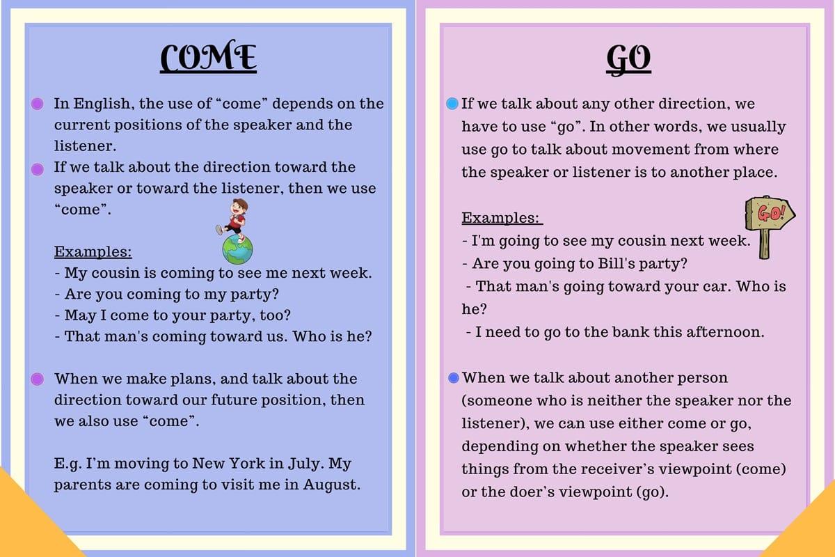 Come vs. Go