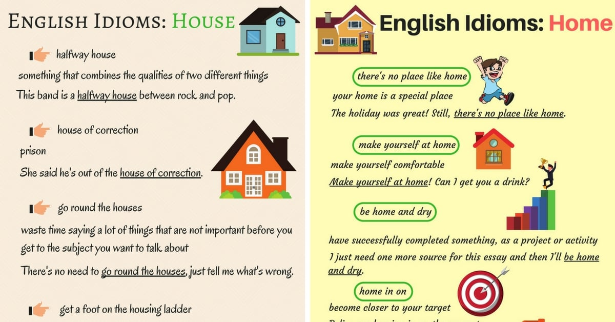 Common Idioms about the House and Home in English 8