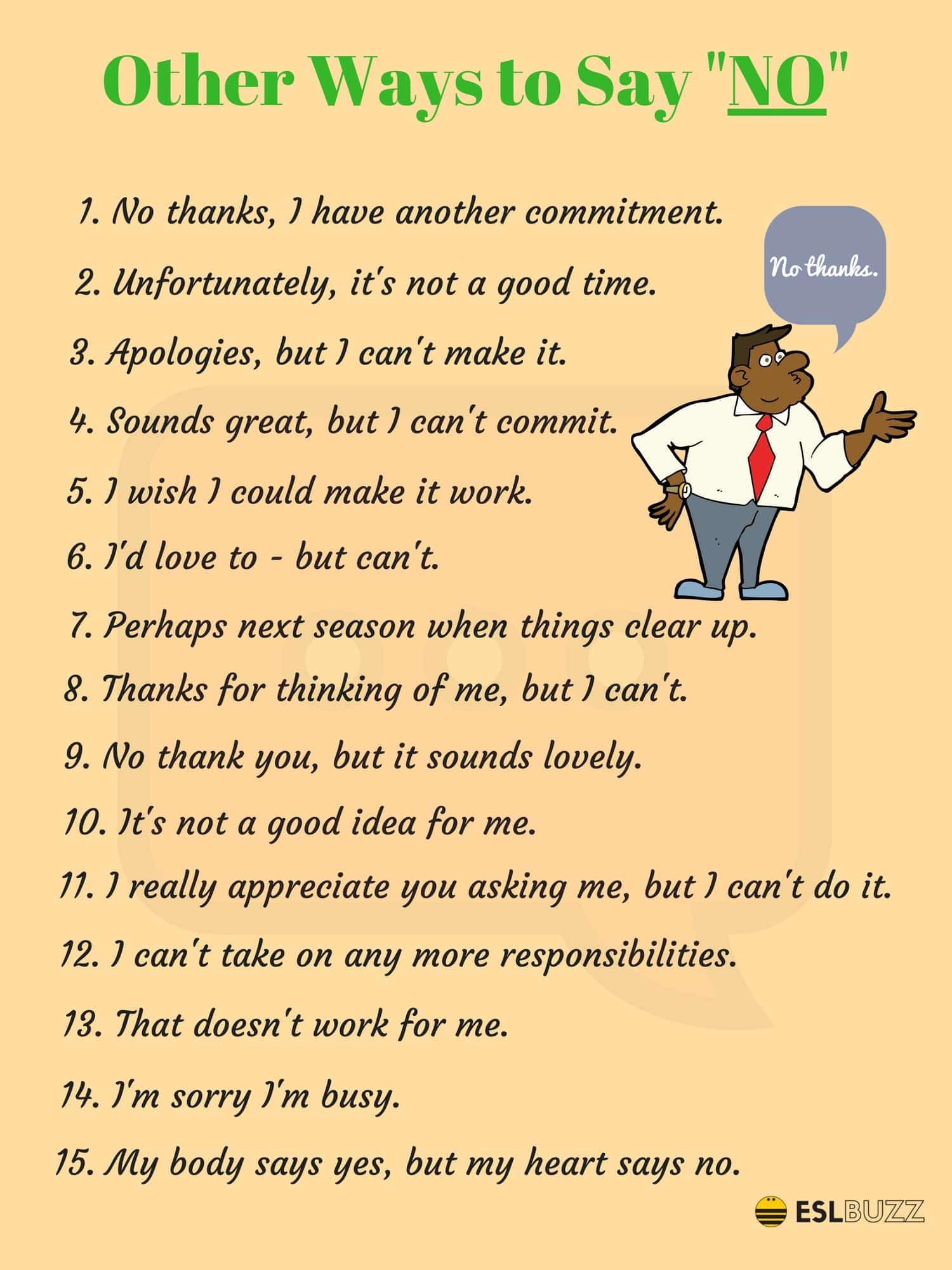 Different Ways to Say NO
