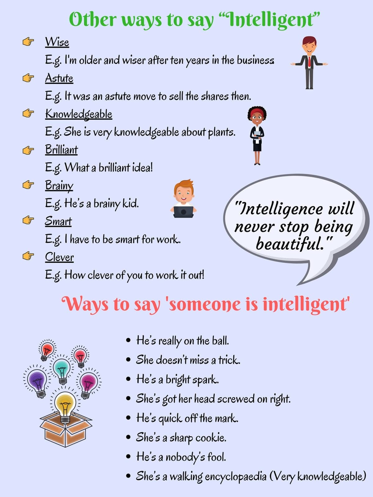 Ways to Say Someone is Intelligent