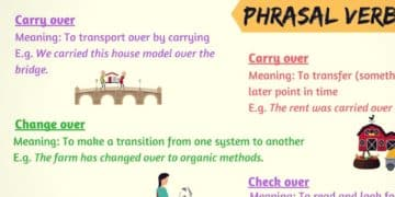 Frequently Used Phrasal Verbs with OVER in English 1