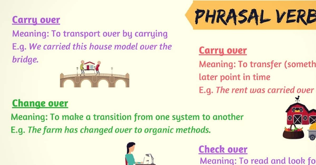 Frequently Used Phrasal Verbs with OVER in English 2
