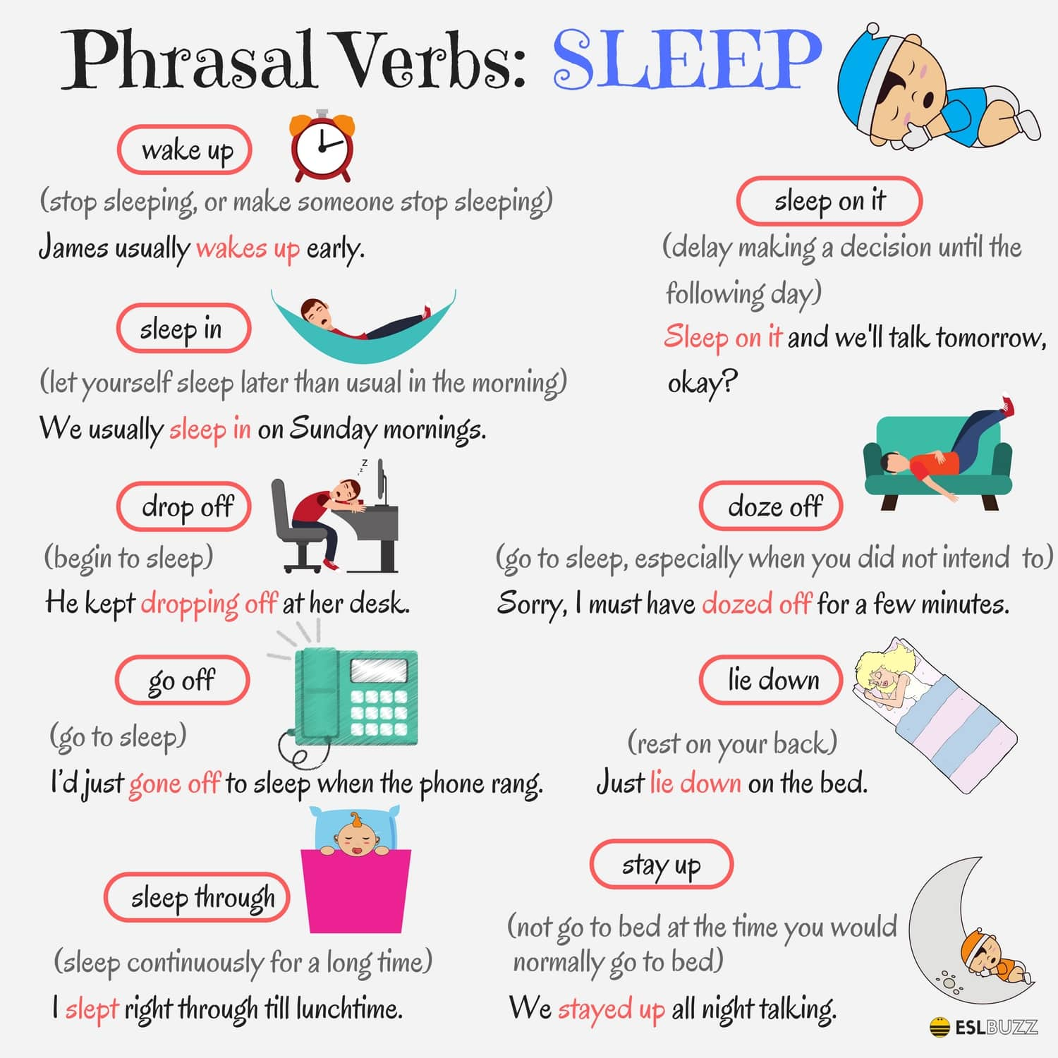Phrasal Verbs Related to SLEEP