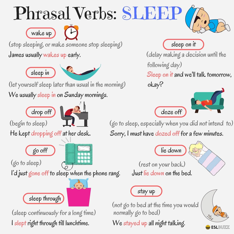 Phrasal Verbs Related to SLEEP