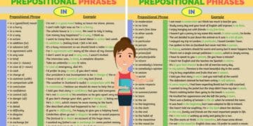70 Common Prepositional Phrases with IN 4