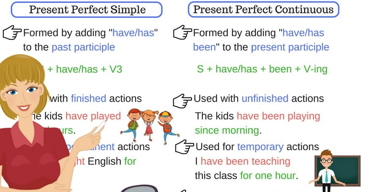 English Tenses: Present Perfect Simple vs. Present Perfect Continuous 7