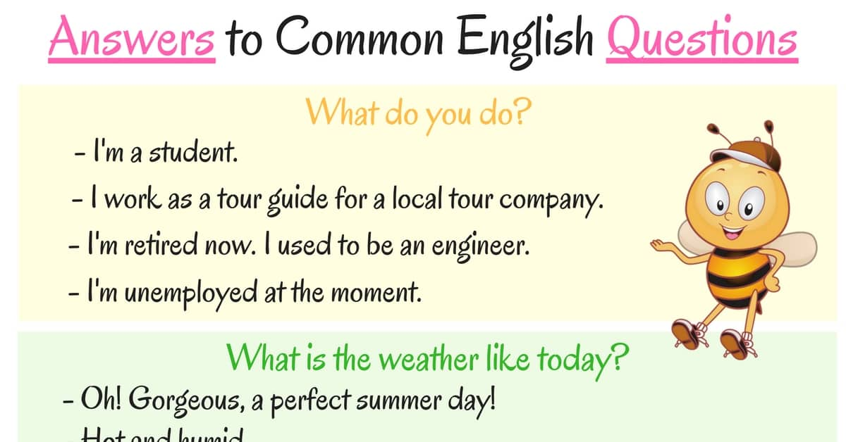 How to Ask and Answer Common Questions in English 6