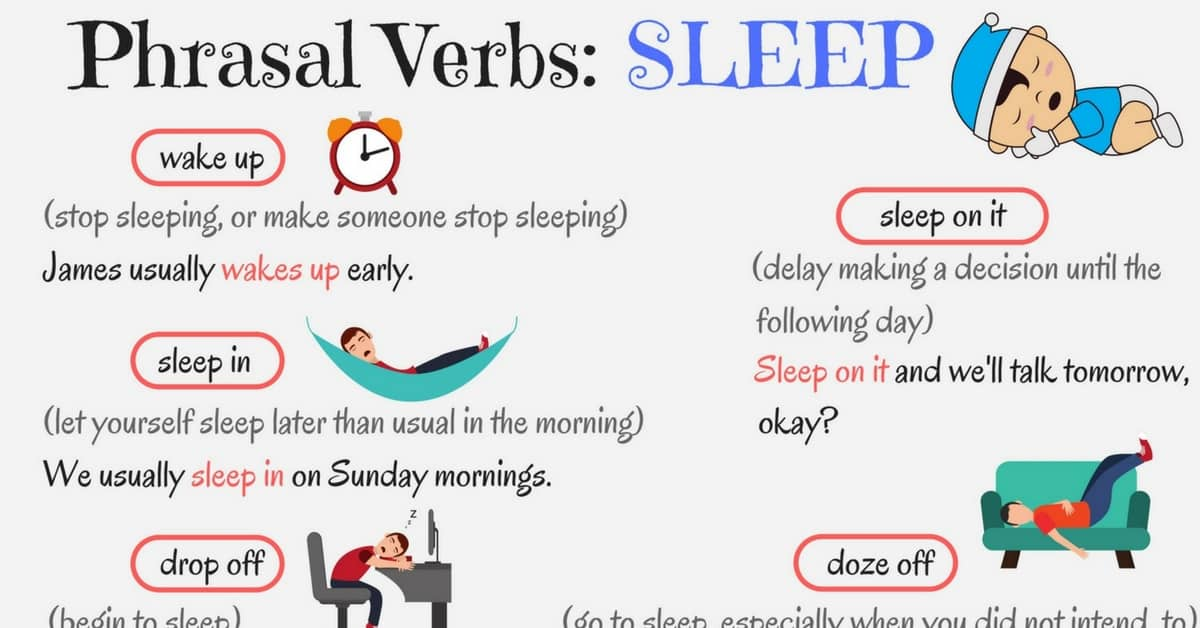 Useful Phrasal Verbs in English: SLEEP 3