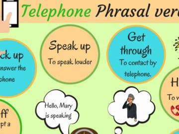 Common Telephone Phrasal Verbs in English 14