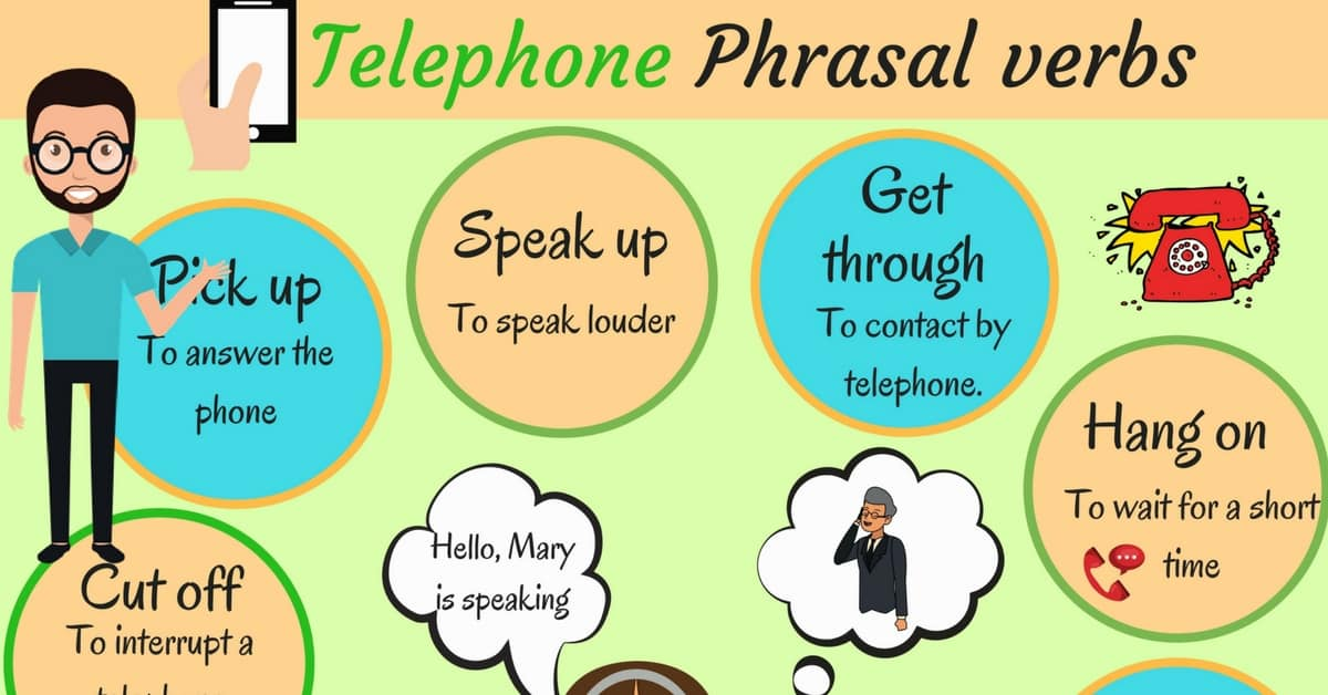 Common Telephone Phrasal Verbs in English 8