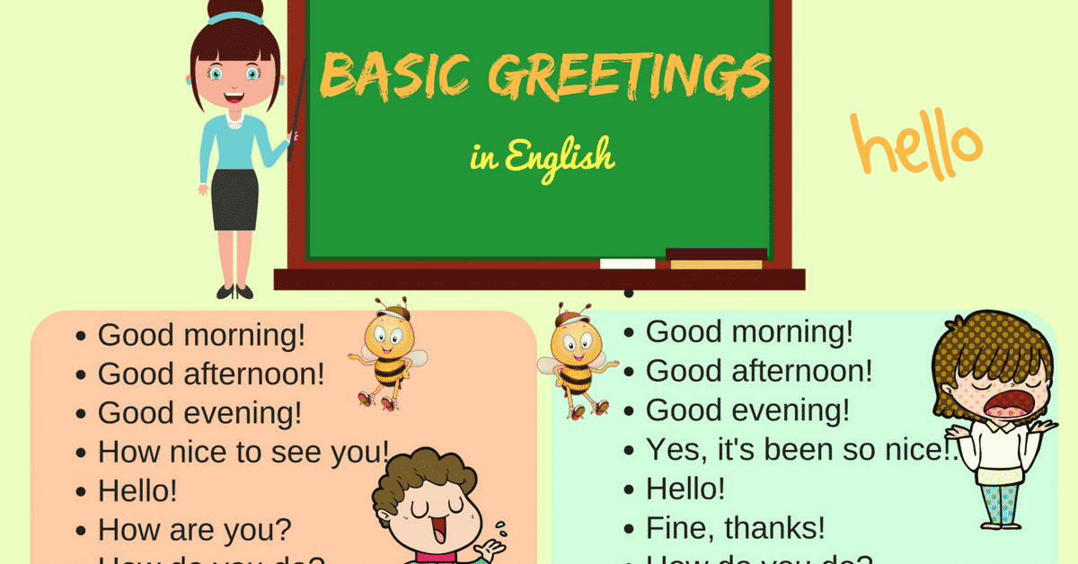 Useful English Greetings and Expressions for English Learners 2