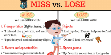 Confusing Words: MISS and LOSE? What's the Difference? 2