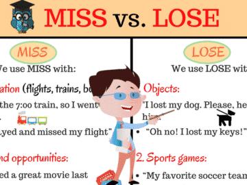 Confusing Words: MISS and LOSE? What's the Difference? 15