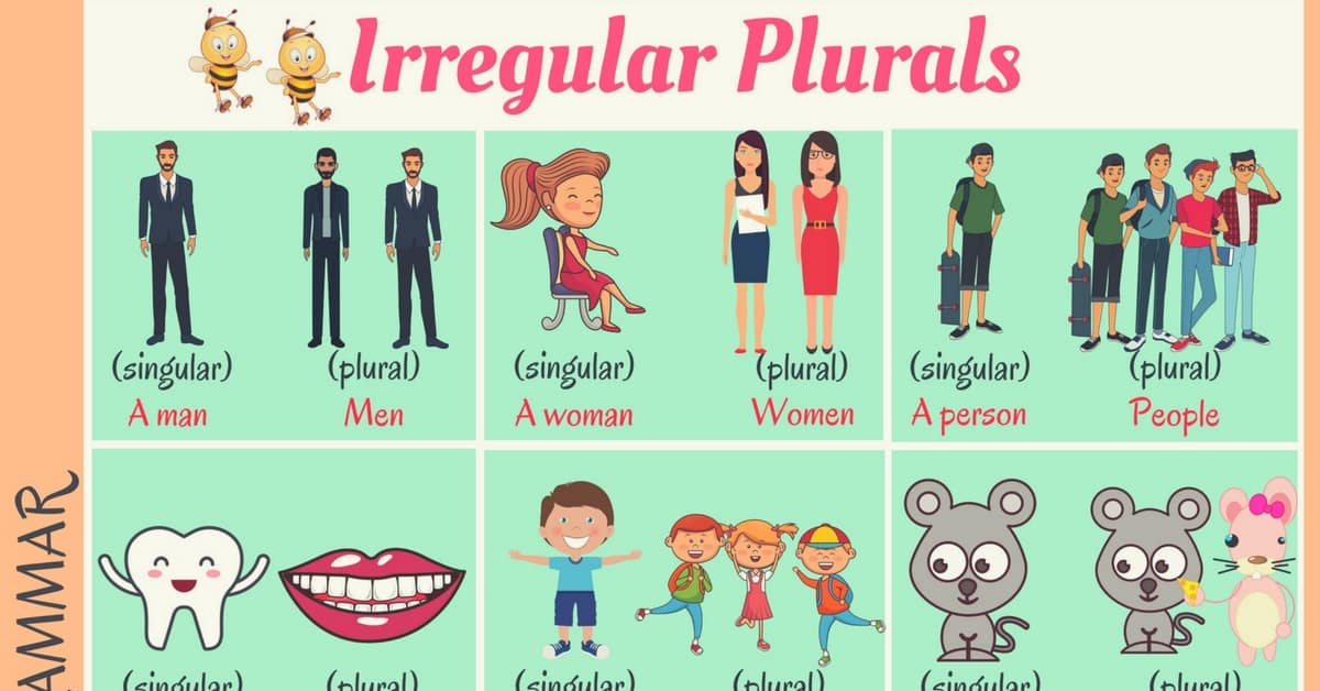 Common Irregular Plural Nouns in English 2